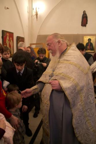 Крещение Олега и Эдуарда (Тихона)