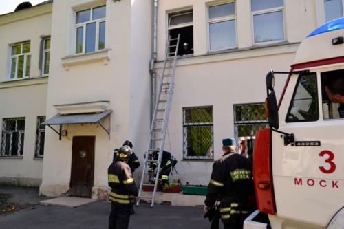 Плановые учения пожарных