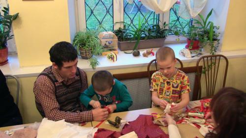 Как мы делали ёлочные игрушки